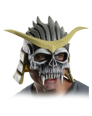 Shao Khan Mortal Kombat deluxe latex mask for an adult