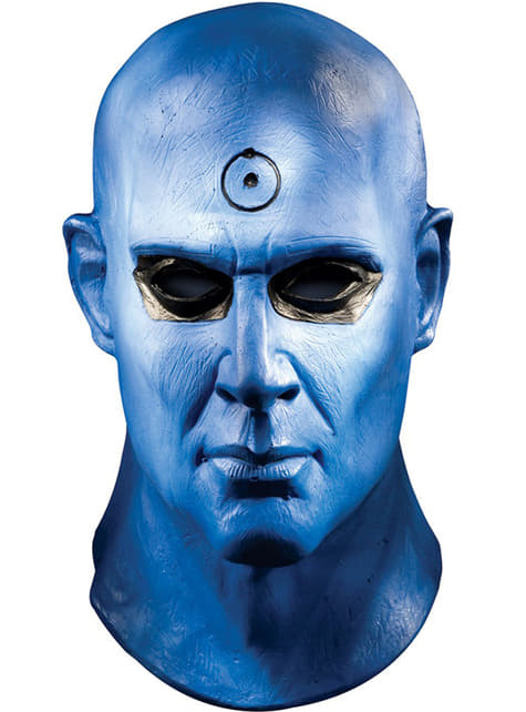 Máscara de Dr. Manhattan de látex deluxe para adulto