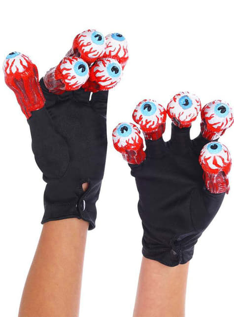 Beetlejuice handschoenen met ogen voor volwassenen