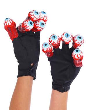 Beetlejuice handsker med øjne til voksne