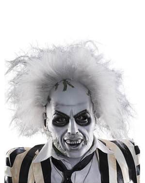 Beetlejuice Latexmask med hår Vuxen