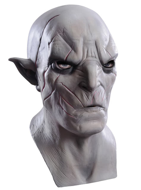 Máscara de Azog El Hobbit La Desolación de Smaug de látex para adulto