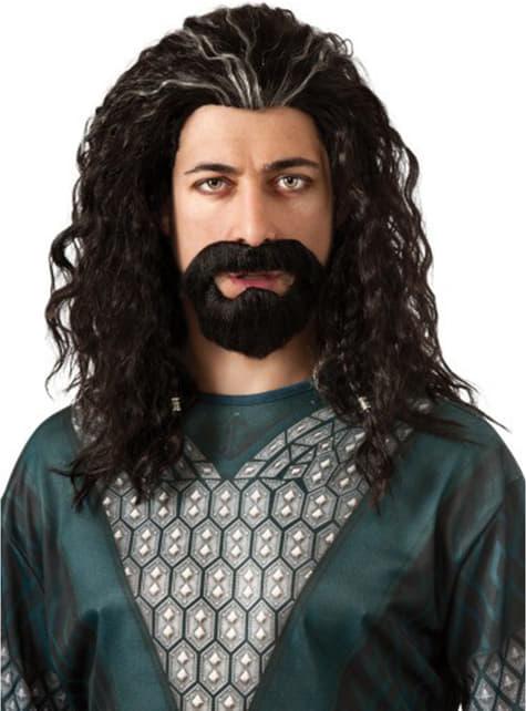 Thorin Oakenshield sæt med skæg og paryk Hobbitten En Uventet Rejse til voksne