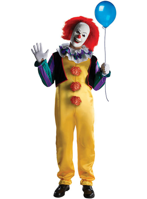 Fato de Pennywise It the Movie deluxe para homem