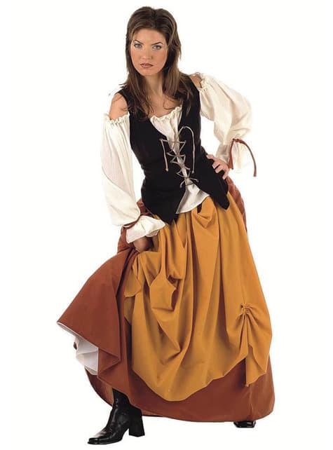 中世の農民の女性のアダルトコスチューム