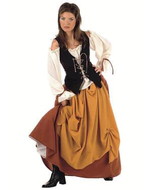 Middelalder Innbygger Dame Voksen Kostyme
