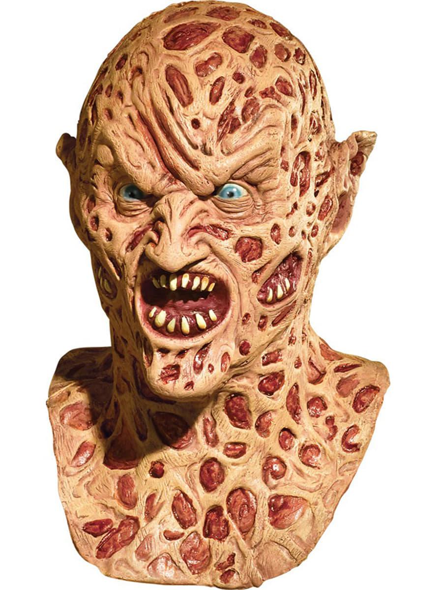 Demon Freddy Toys : Deluxe demon freddy krueger latex mask for an adult