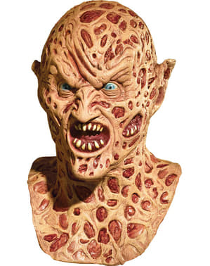 Deluxe Demon Freddy Krueger latex mask for an adult