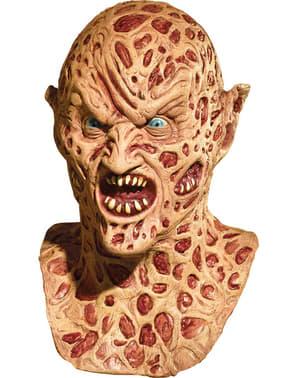 Demon Freddy Krueger latex deluxe maske til voksne