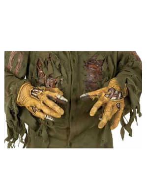 Jason Friday 13 deluxe hender i lateks til voksen