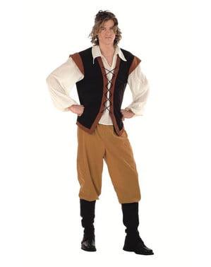 Srednjeveški kmečki človek Kostum za odrasle