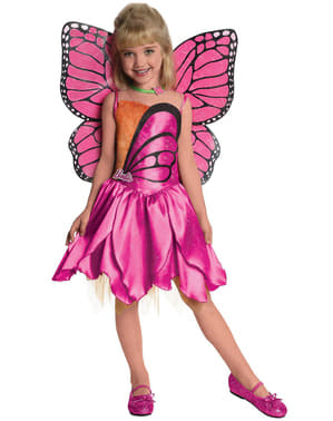 Girls Butterfly Barbie Deluxe Costume
