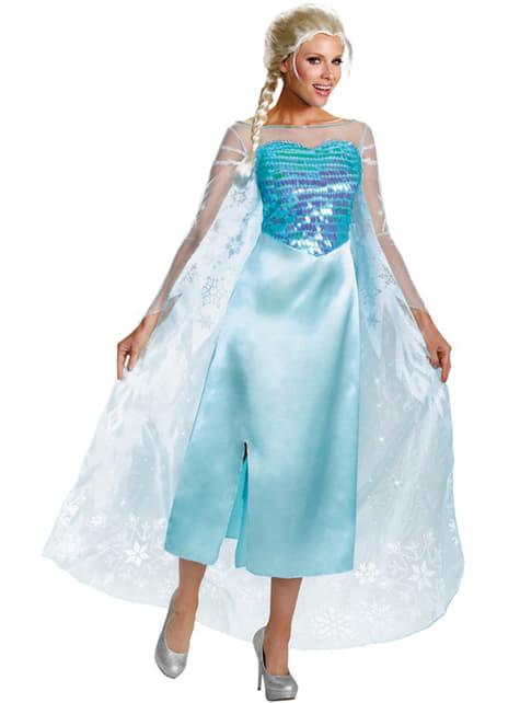 Kostum Elsa Frozen Deluxe untuk seorang wanita