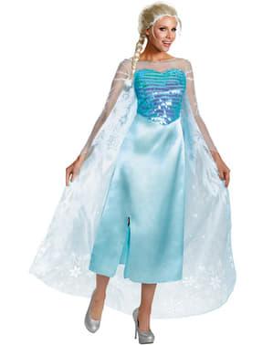 एक महिला के लिए डीलक्स एल्सा फ्रोजन पोशाक