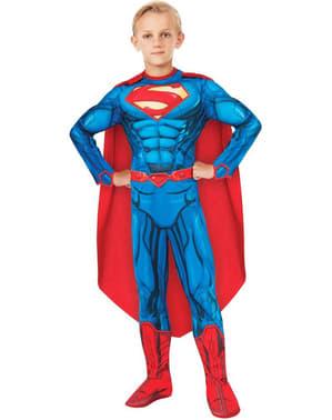 Costum Superman DC Comics deluxe pentru băiat