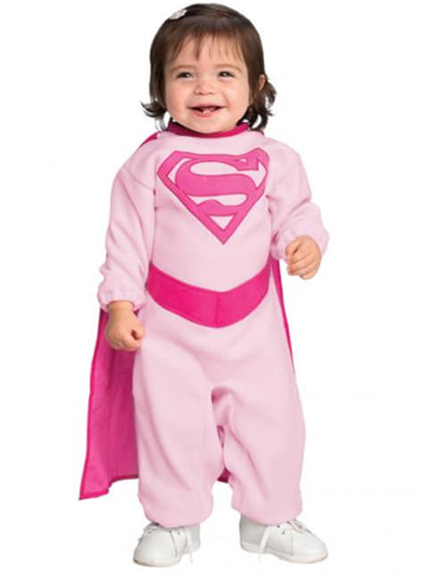 Pink Supergirl costume for a child