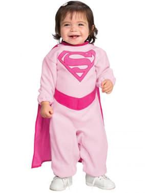 Pink Supergirl kostume til babyer