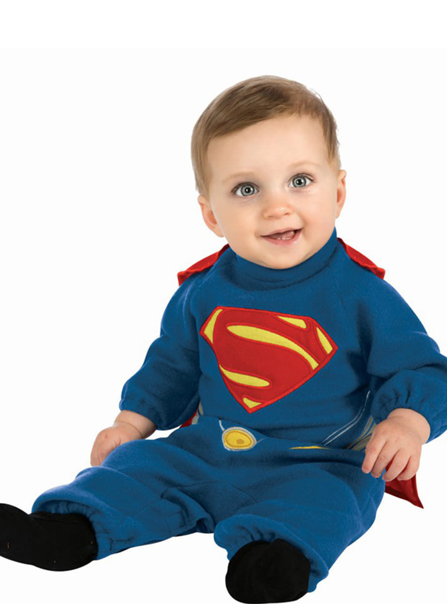 superman kost m f r babys mit abnehmbarem umhang man of steel funidelia. Black Bedroom Furniture Sets. Home Design Ideas