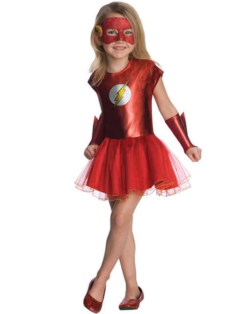 Flash Kostüm für Mädchen Tutu DC Comics
