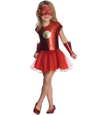Flash kostume med tyl DC Comics til piger