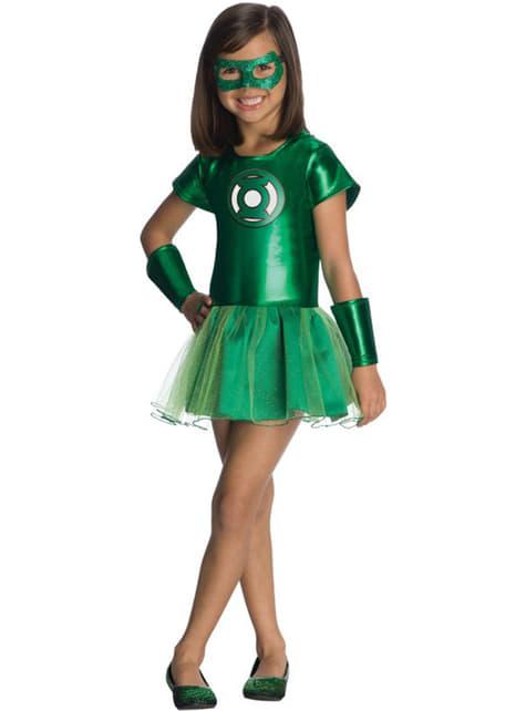 Fato de Lanterna Verde DC Comics tutu para menina