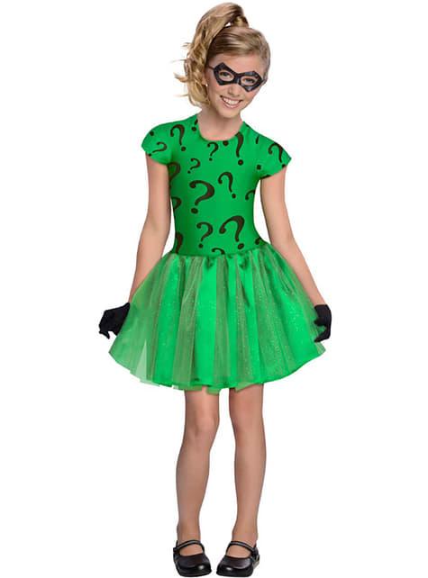 Kostium Człowiek-Zagadka tutu dla dziewczynki