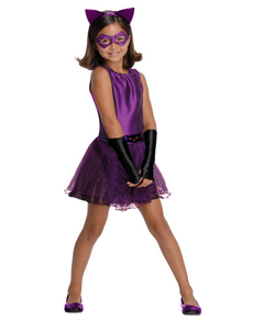 Catwoman tutu costume for a girl