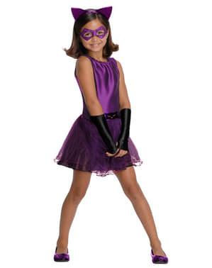 Costum Catwoman tutu pentru fată