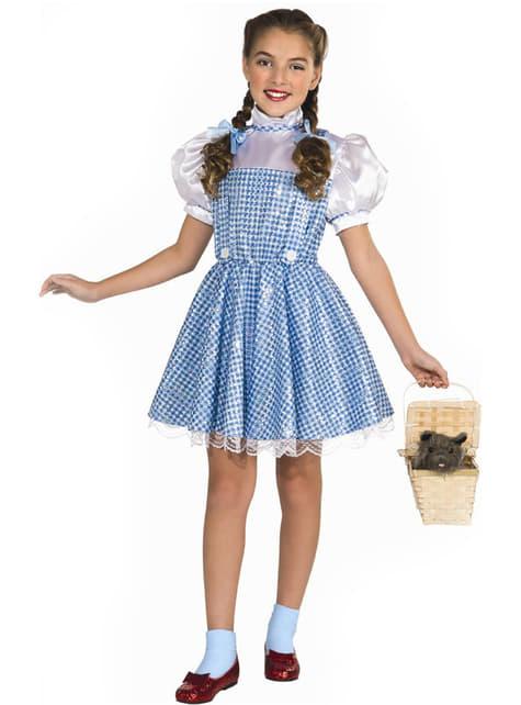 Déguisement Dorothy brillant pour fille deluxe