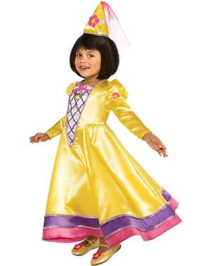 Déguisement Dora l'exploratrice princesse de contes de fées pour fille