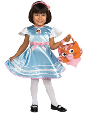 Dívčí kostým Dora průzkumnice v říši divů