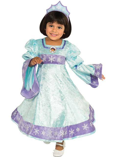 Disfraz de Dora la Exploradora princesa de la nieve para niña