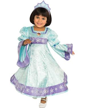 Fato de Dora, a Exploradora princesa da neve para menina