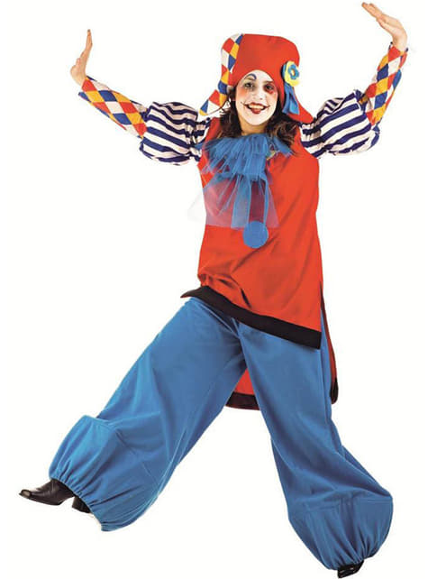 Costume de clown arlequin