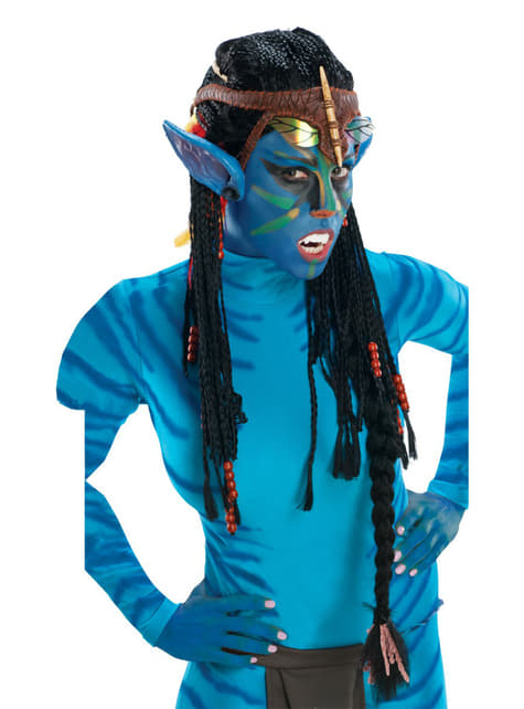 Avatar Neytiri wig with ears for an adult