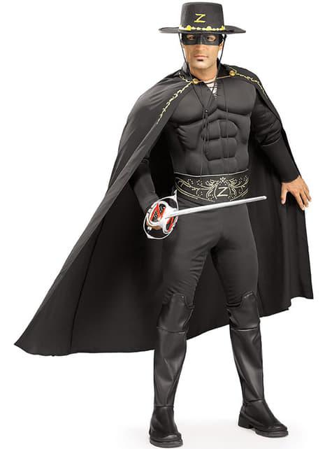 Zorro luxus jelmez felnőttnek