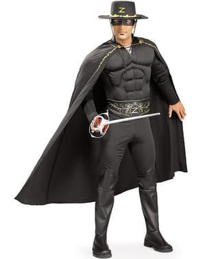 Fato de Zorro deluxe para adulto