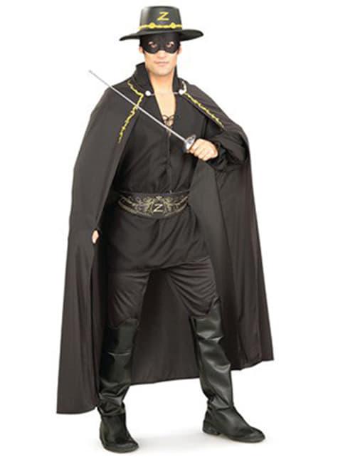 Zestaw Strój Zorro dla dorosłych