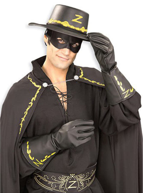 Guantes de El Zorro para adulto