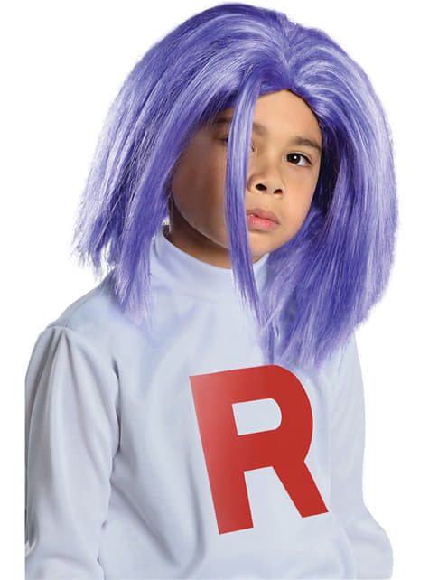 Peluca de James Team Rocket para niño