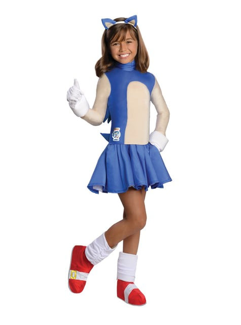 Sonic costume for a girl