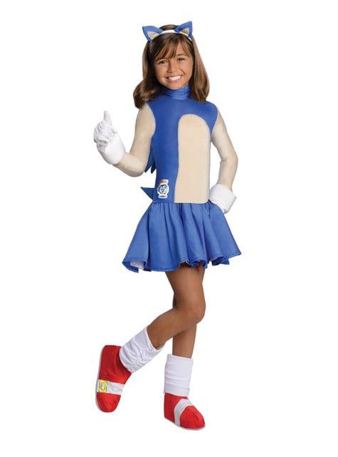 Sonic Kostüm für Mädchen