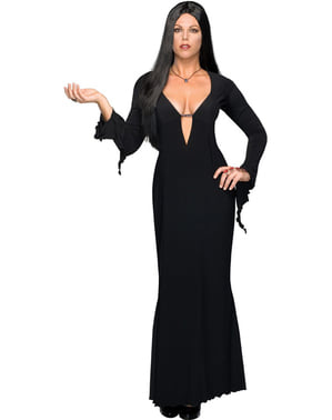 Morticia plus size kostume Familien Addams til kvinder