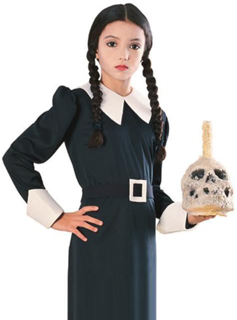 Peluca de Miércoles La Familia Addams para niña