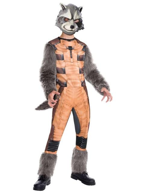 Disfraz de Rocket Racoon Guardianes de la Galaxia supreme para niño