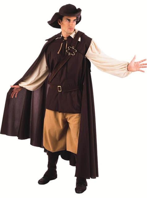 Keskiaikainen herrasmies-asu aikuiselle