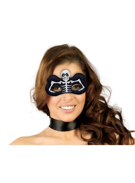 Skelett Augenmaske schwarz