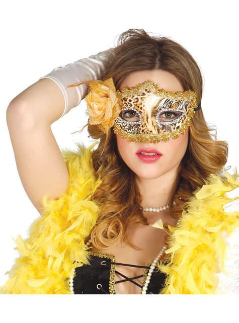 Masque de léopard doré