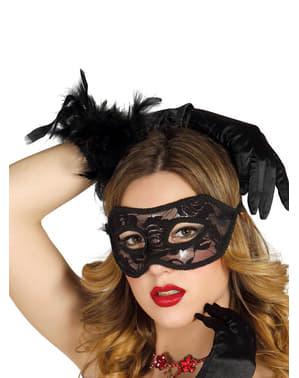 Sexig spetsögonmask svart