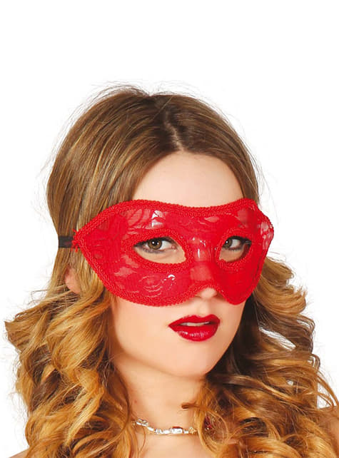 Sexy red lace eye mask